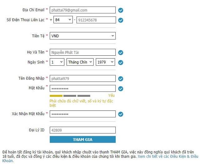 hướng dẫn đăng ký tham gia w88