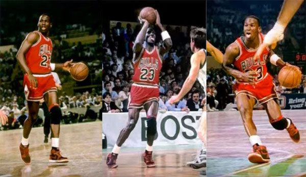 Giày sneaker Air Jordan 1 màu đen và đỏ mang tính biểu tượng của Nike được phát hành năm 1985 với giá 65 USD.