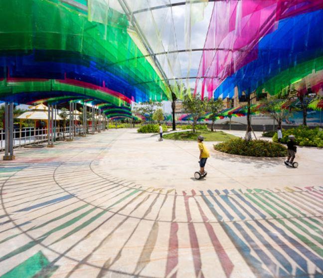 Công viên Cầu Vồng Vinhomes Grand Park nơi dành cho những ai đam mê xe điện cân bằng